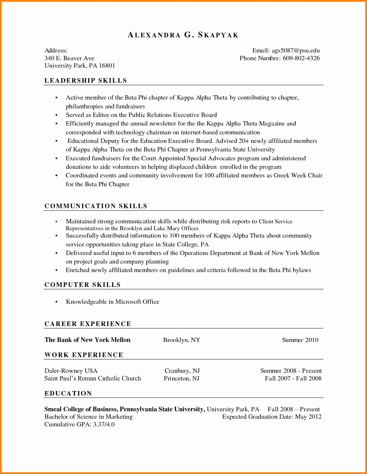 Skills Based Resume Template Free Unique 8 Example Of A Skills Based Cv Resume Template Free Resume Template Job Resume Examples Skills based resume template word