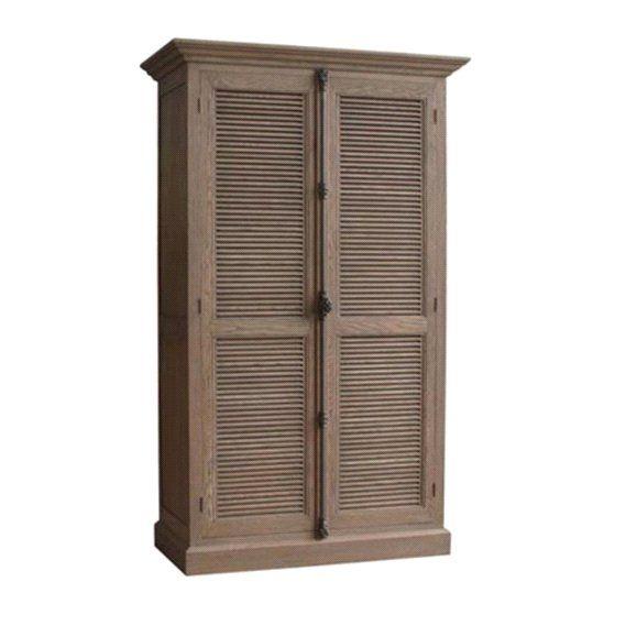 Plantation Louvered Door Cabinet | Project ideas | Pinterest ...