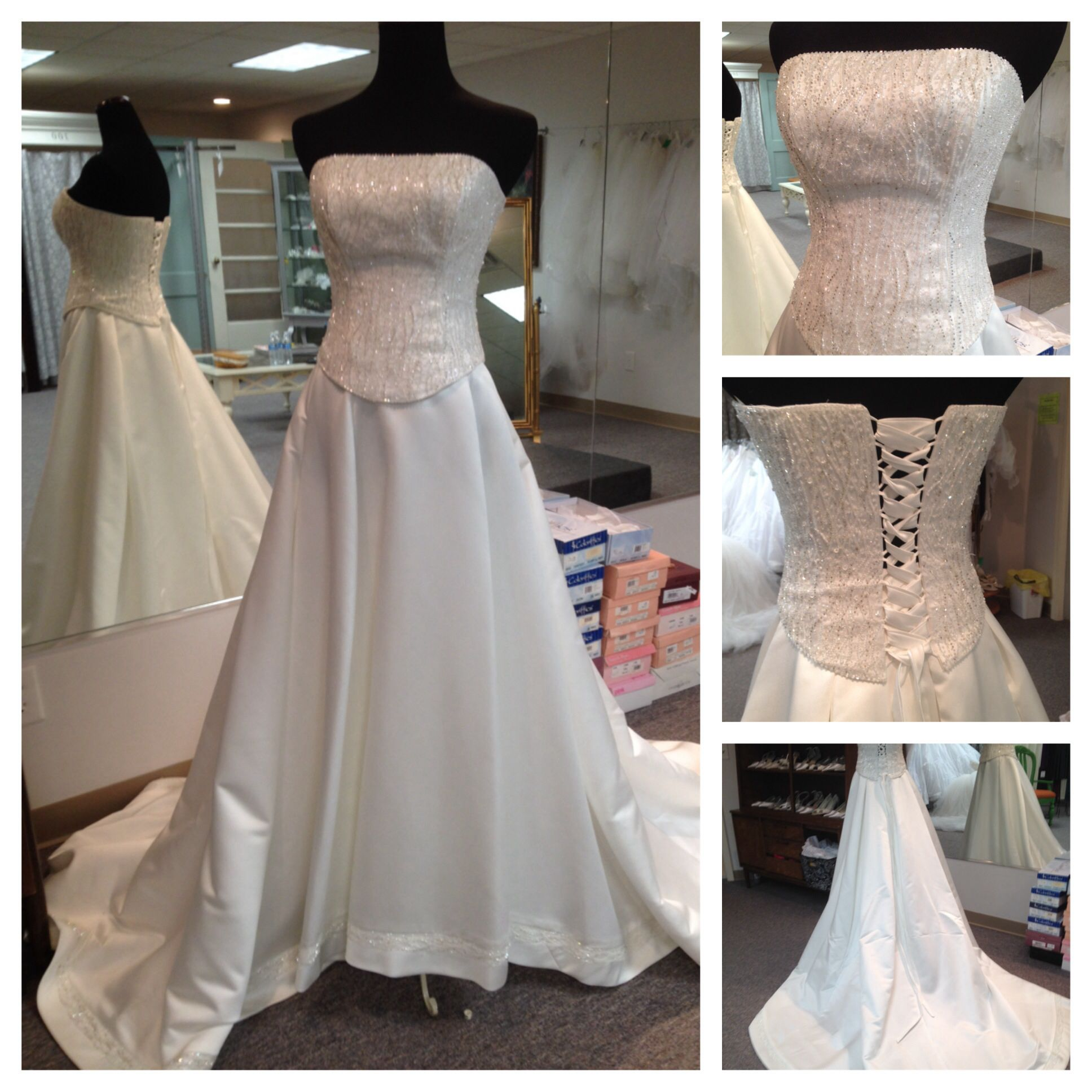 Maggie Sottero 2 Piece Wedding Gown With Corset Top Size 10 And