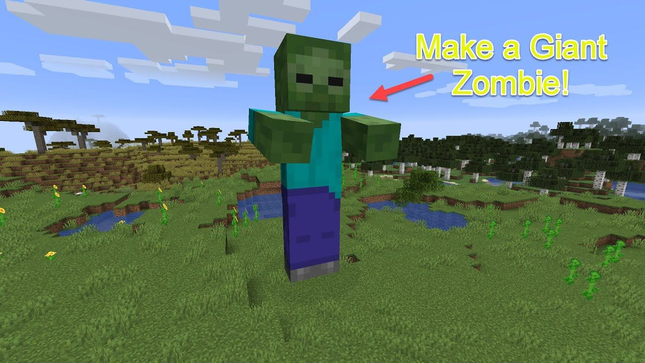 Summon a Giant Zombie in Minecraft: Java!  Zombie, Minecraft, Giants
