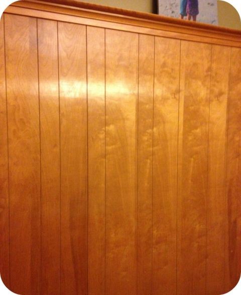 Knotty Pine Cabinets Makeover: DIY Home Repair Hack: Easily Paint Over Wood Paneling