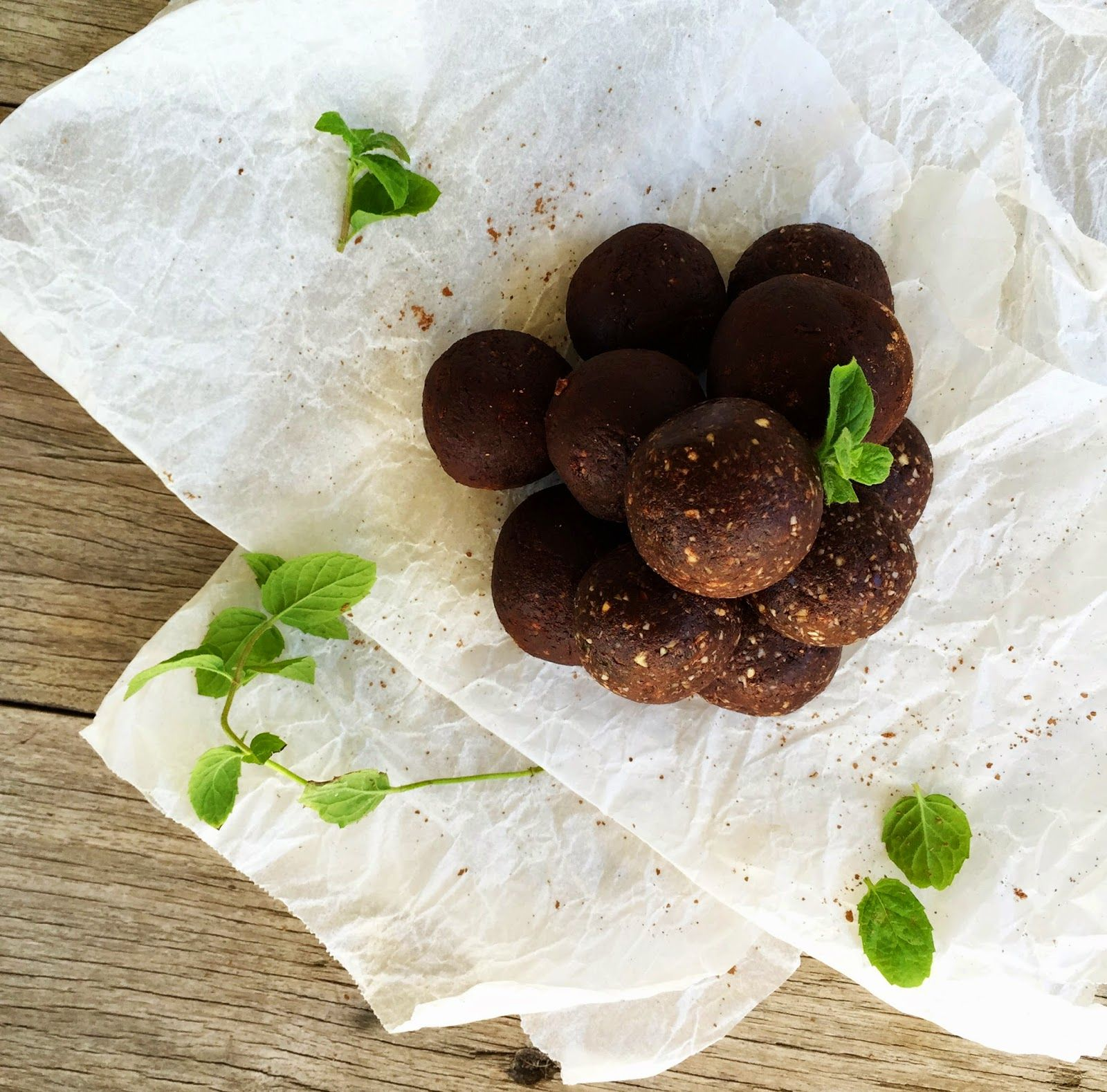 Chocolate, Mint and Coconut Bliss Balls