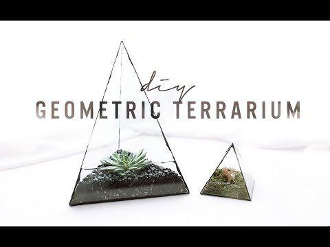 DIY GEOMETRIC GLASS TERRARIUM   THE SORRY GIRLS - YouTube