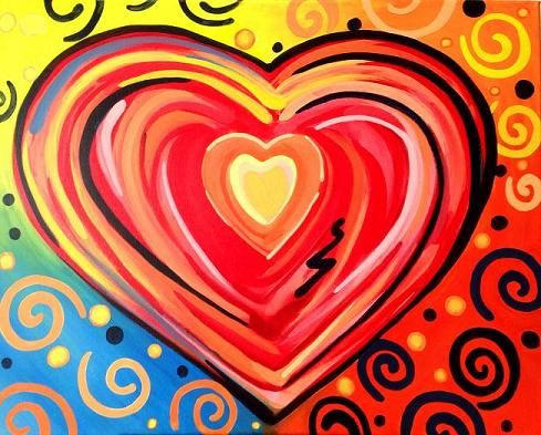 valentine canvas painting ideas | First of 2 painting ...