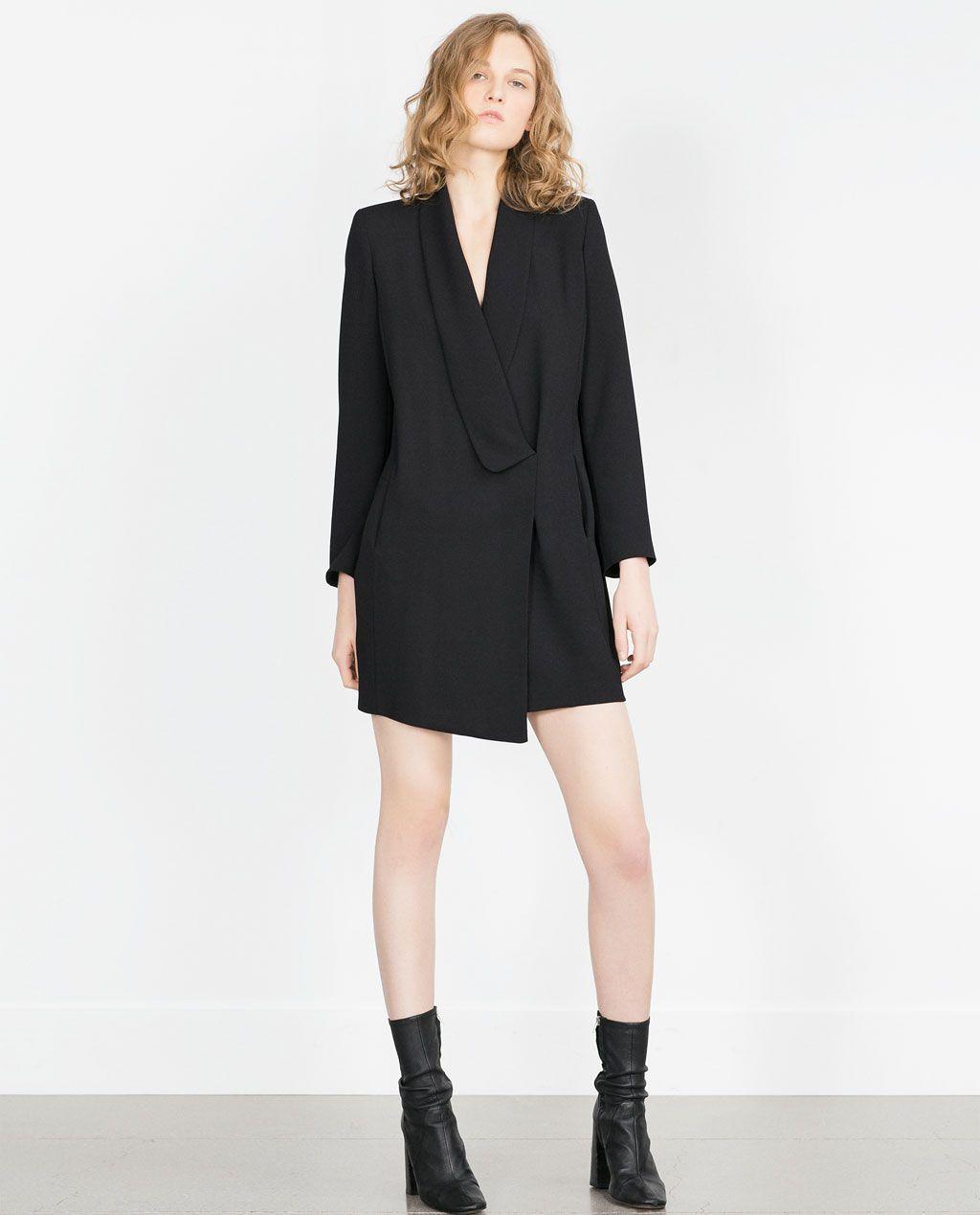 Image 1 Of Shawl Collar Dress From Zara Wl Pinterest Dresses