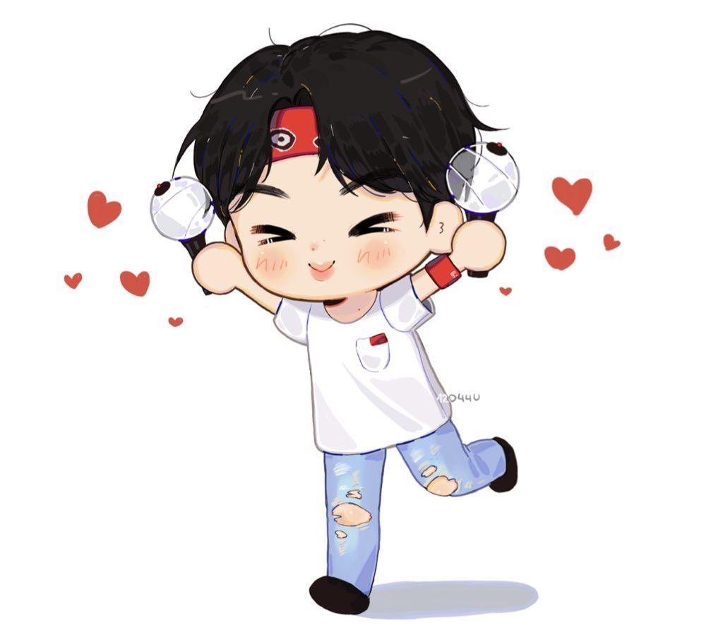 Jin Fan Art Bts Chibi Cute Wallpapers Bts Drawings