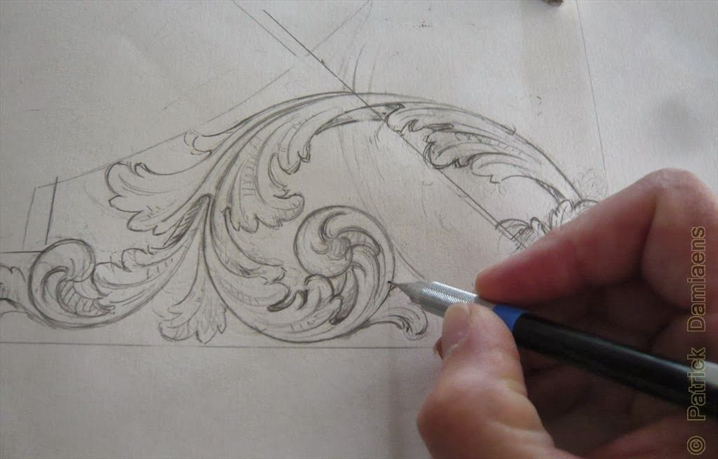 ORNAMENTAL WOODCARVER Patrick Damiaens: 17th Century Style Wood Carving |  Acanthus Leaf Design Carved In Walnut | North German Baroque | Baroque Cau2026