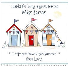 Click to view the Personalised Thank You Teacher Card - SMTY01