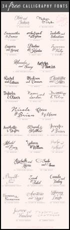 All Caps Font For Wedding Invitation
