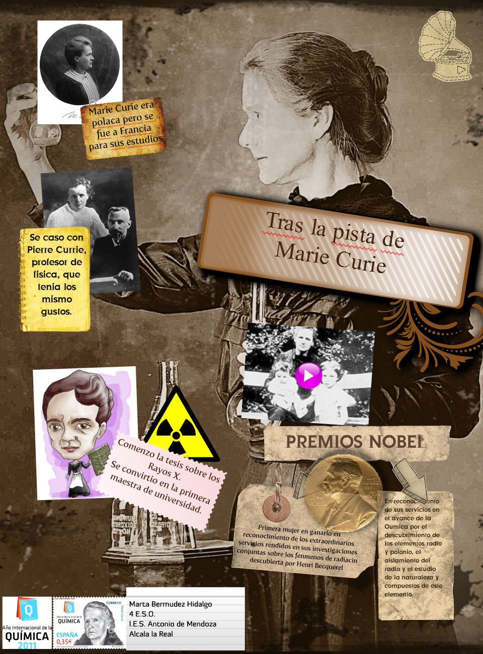 marie and pierre curie poster