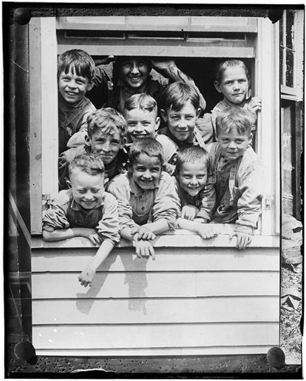 Org Charity Childrens Aid Society Street Scenes Vintage Children 12 Year Old Boy