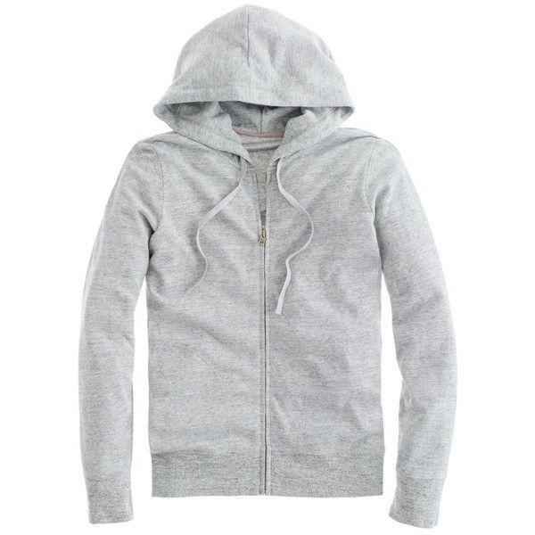J.Crew Lightweight fleece zip-up hoodie ($50) ❤ liked on Polyvore featuring tops, hoodies, jackets, sweaters, sweatshirts, lightweight hoodies, fleece zip up hoodies, zip up hoodies, zip up hoodie and hooded zip up sweatshirt
