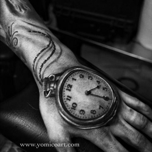 Pin By Johnnie Reyes On Tattoo Hand Tattoos Pocket Watch