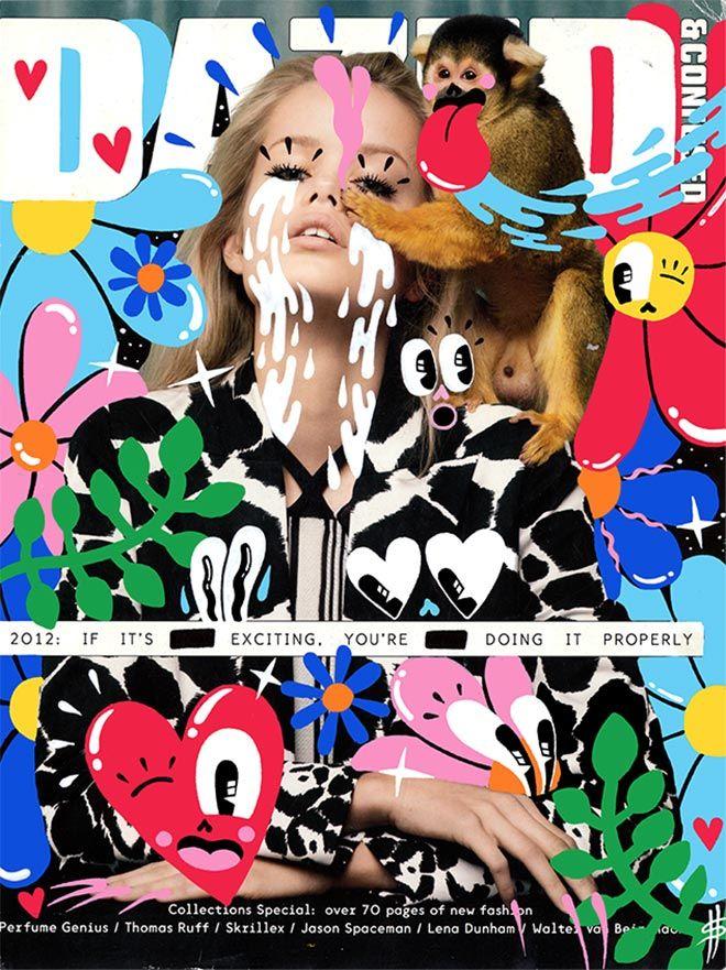 Signed Print Hattie Stewart Face Magazine Kate Moss