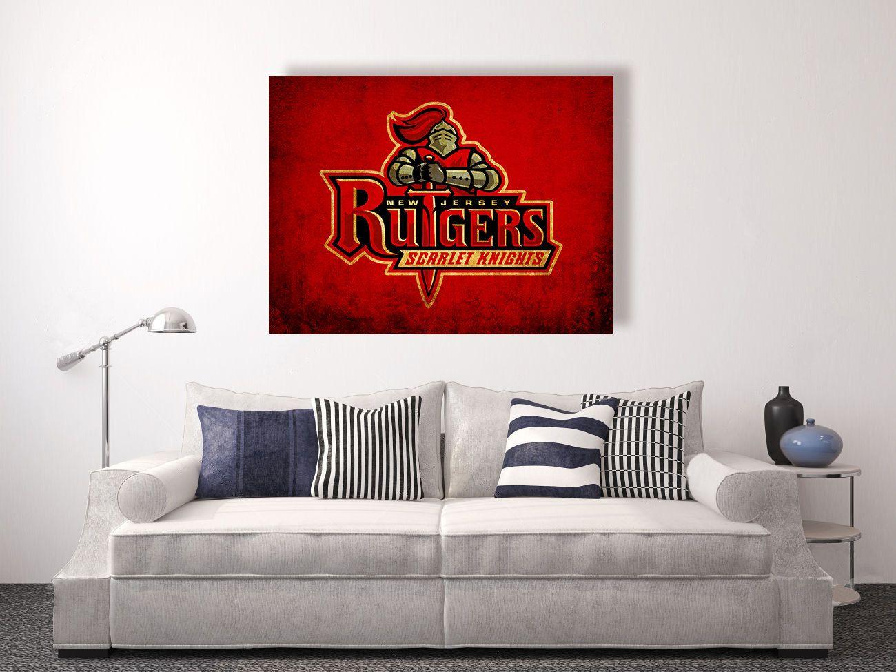 Rutgers University Rutgers Scarlet Knights Vintage Style Etsy Vintage Office Decor Apartment Decor Decor