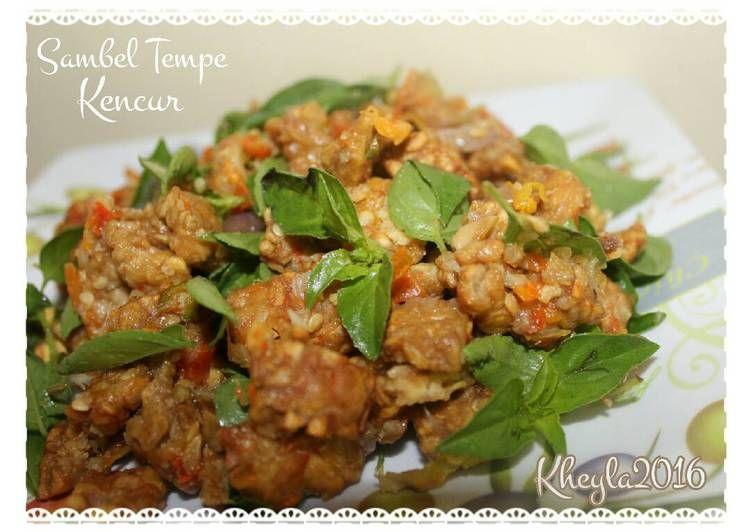 Resep Sambel Tempe Kencur Kemangi Nampol Oleh Kheyla S Kitchen Resep Makanan Pedas Kemangi Masakan
