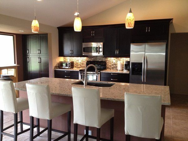 Contemporary Kitchen Design Ideas Giallo Ornamental Granite Best Dark Wood Cabinets Kitchen Design Review