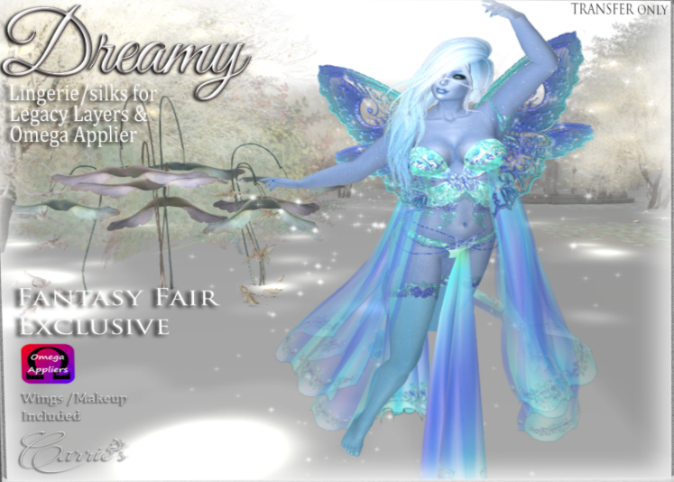 ~ Dreamy Lingerie/Silks by Carrie's Lingerie ~  Located on Dawn's Promise {Sponsored by The Looking Glass} http://maps.secondlife.com/secondlife/Dawns%20Promise/115/148/58