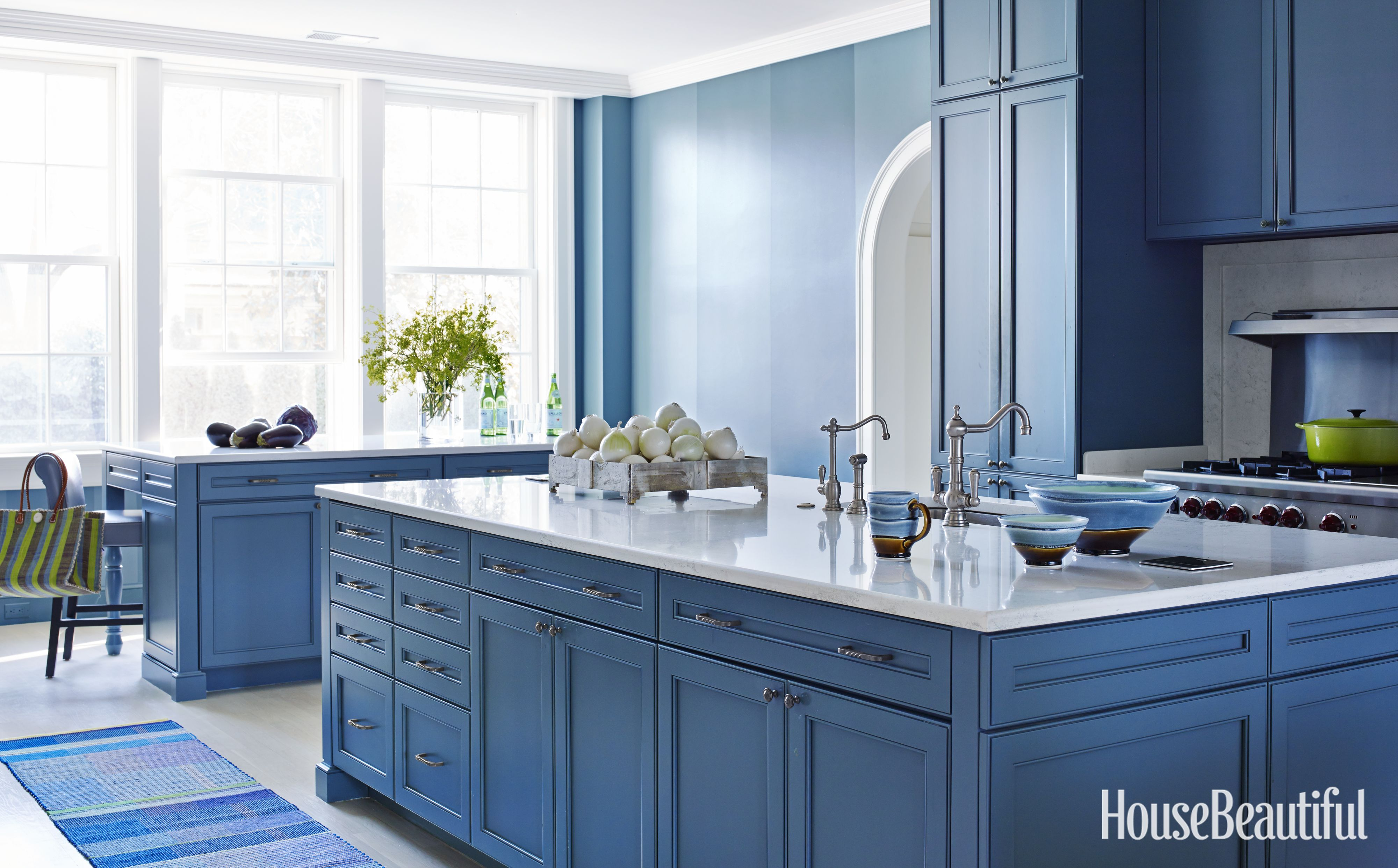 A 1920s House Embraces the Power of Blue | Traditional, Kitchens and ...