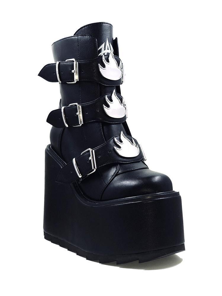 Goth shoes, Platform shoes boots, Emo shoes