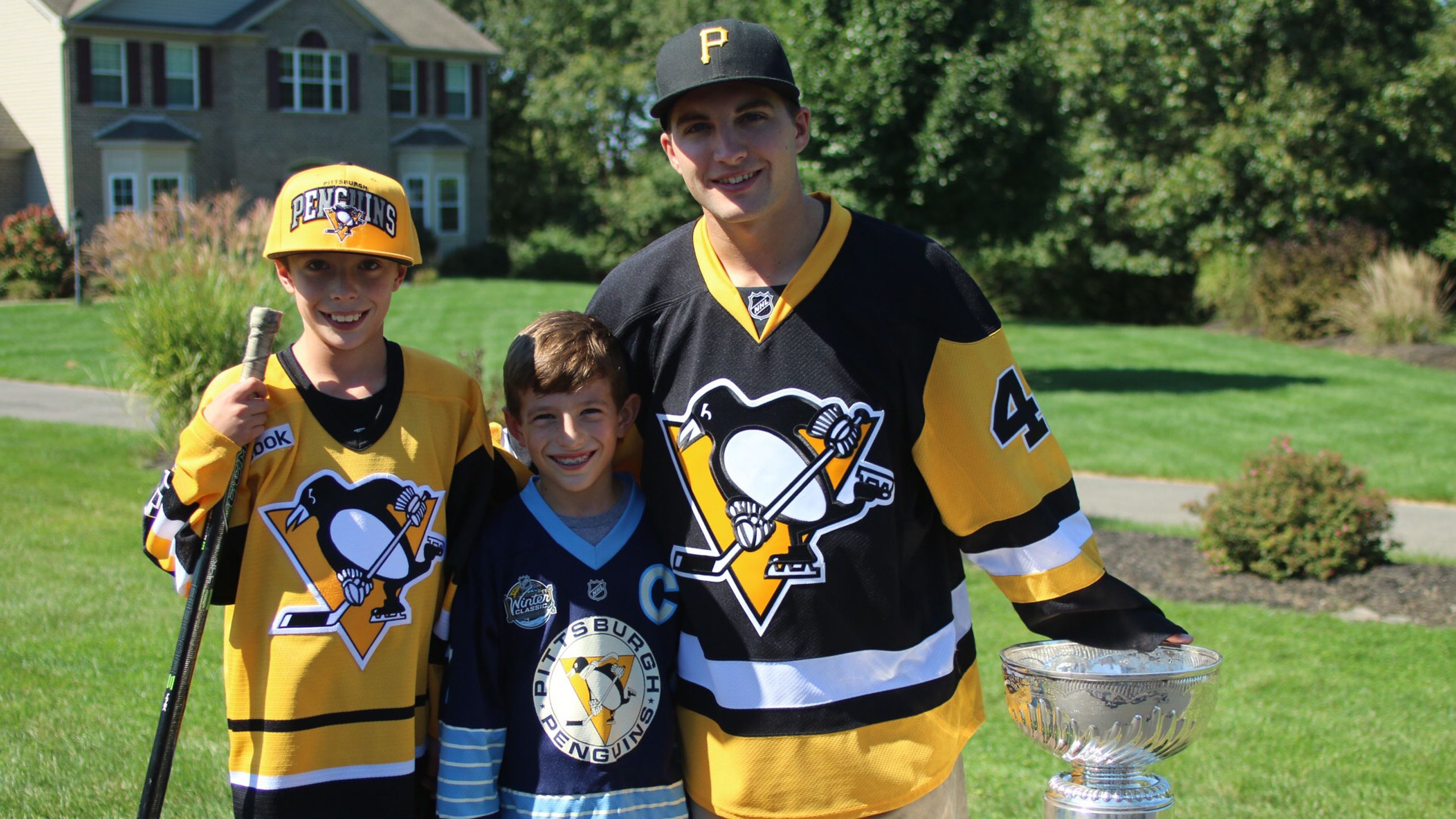 Conor Sheary delivered season tickets to some lucky fans