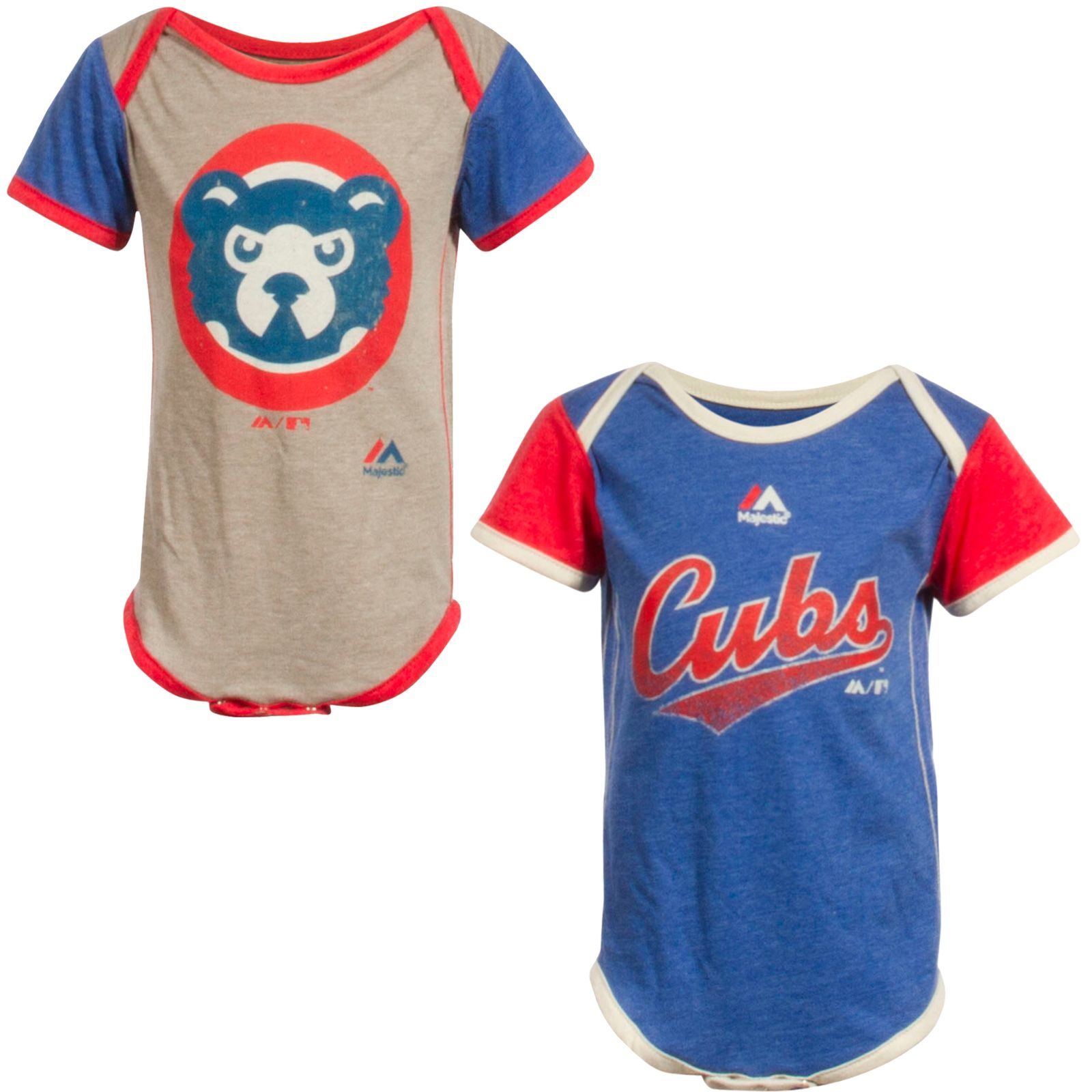 """Chicago Cubs Infant Vintage Two Pack """"Cubs"""" Logo and 90 s Cub Face"""