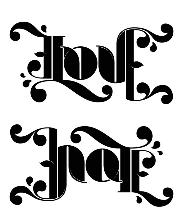 Hands Ambigram Tatoos 3: I Want This In A Tattoo..ambigram