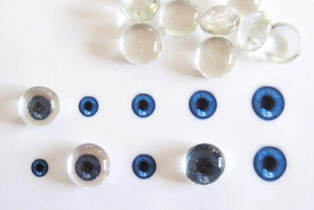 Glass eye ball how-to with printable