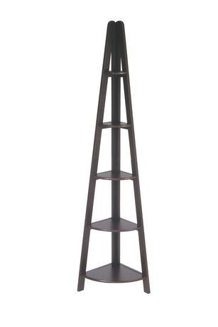 Office Star Products Office Star Corner Ladder Bookcase 5 Shelf Bookcase Ladder Bookcase Shelves