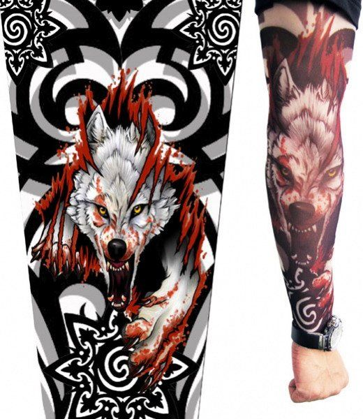 2015-Sale-New-Freeshipping-Animal-Adult-Cardigans-Raging-Wolf-Tattoo-Sleeves-Arm-Warmers-Costume-Legs-Stockings.jpg (520×600)