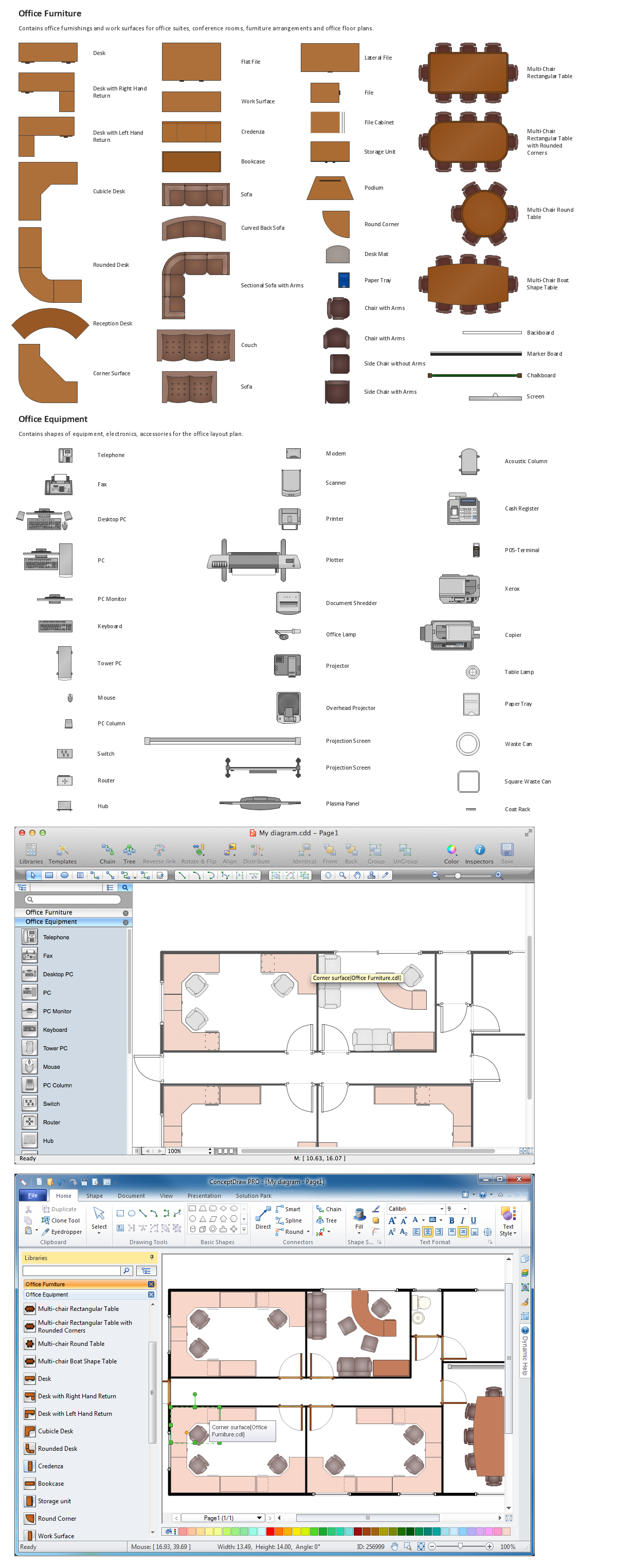 Building Drawing Tools Interior Design Elements Office Layout Plan