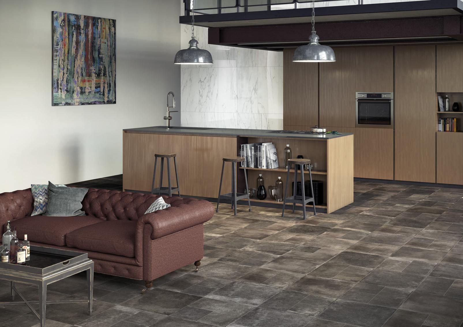 Una cucina moderna, in cui all\'interno di un unico open space ...