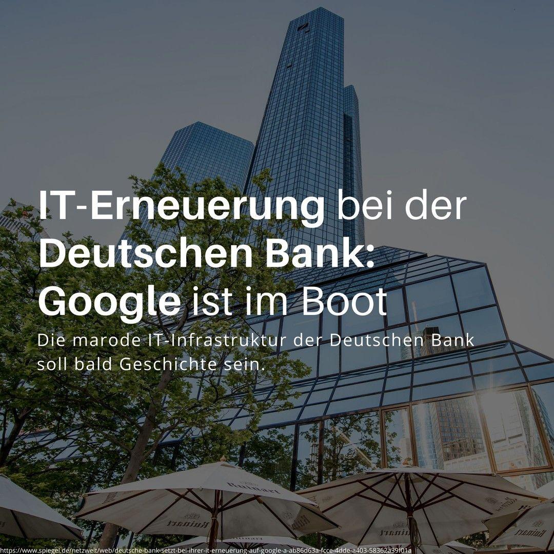 Www Iotiq De Lange Wurde Die It Infrastruktur Der Deutschen Bank Intern Als Marode Und Schwach Bezeichnet Es Gab Mehrfach Pa In 2020 Digitalisierung Bank Geldwasche