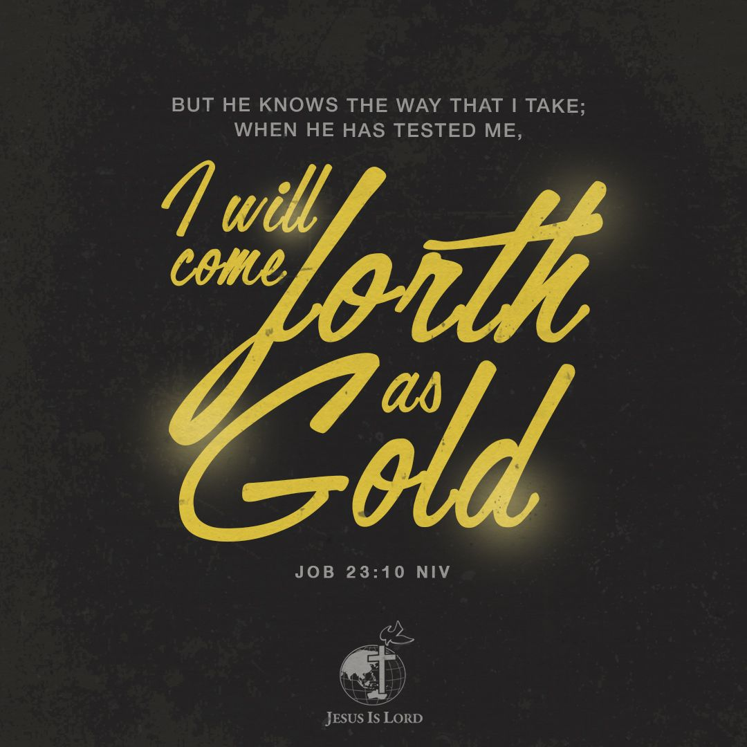 VERSE OF THE DAY But he knows the way that I take; when he