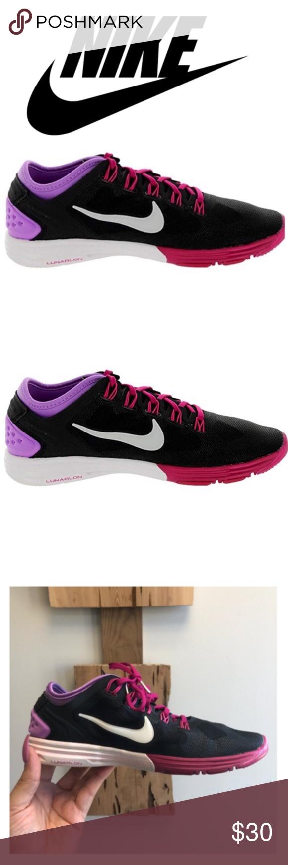 low priced 6aa4a f43c5 Nike Lunarlon Size 7.5 Size  7.5, Color  Black Purple Pink White. Excellent