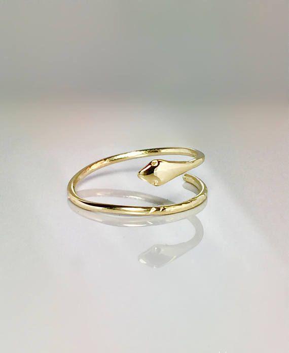 1523ab806ab35 SALE 10k 14k Tiny Snake Rings - Midi Ring Gold - Dainty Snake Ring ...