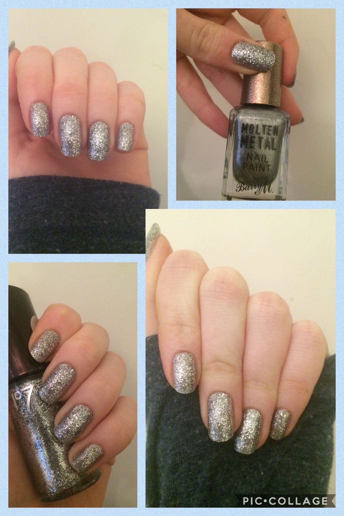 BarryMnails #Nails #Swatches Barry M Molten Metals in Silver Lining ...