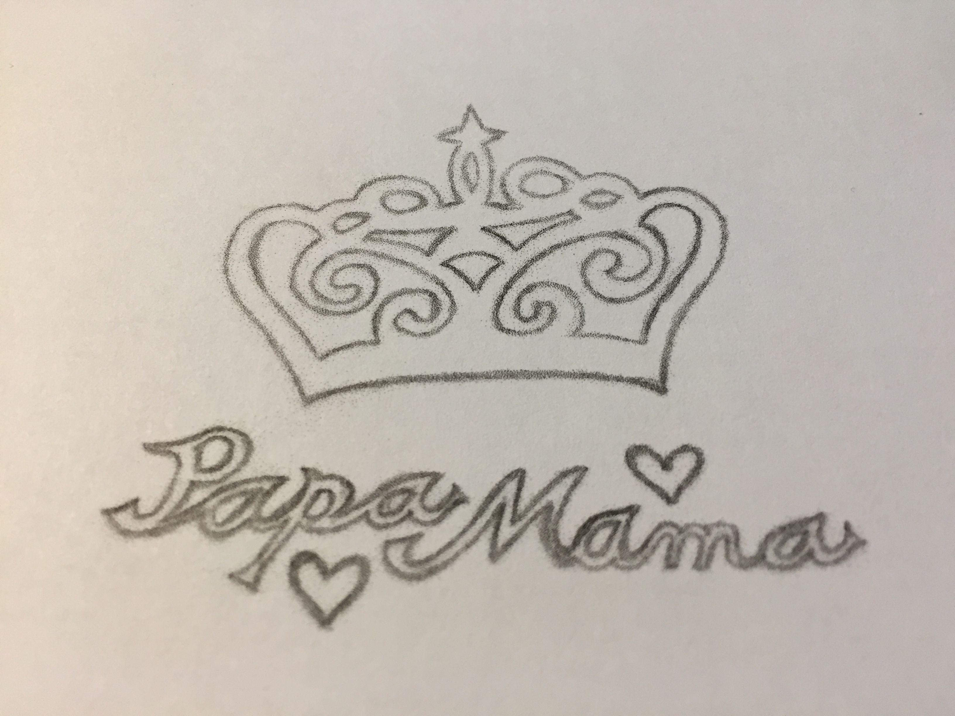 zeichnung krone vorlage tattoo skizze andreas samulewitz papa und mama zz paare. Black Bedroom Furniture Sets. Home Design Ideas