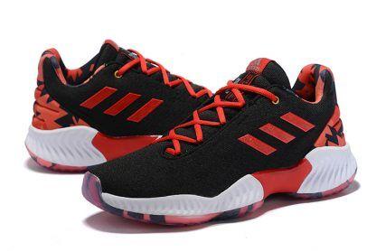fdb73fa65906b adidas Pro Bounce Low 2018 Black University Red-White Men s Shoes-3 ...