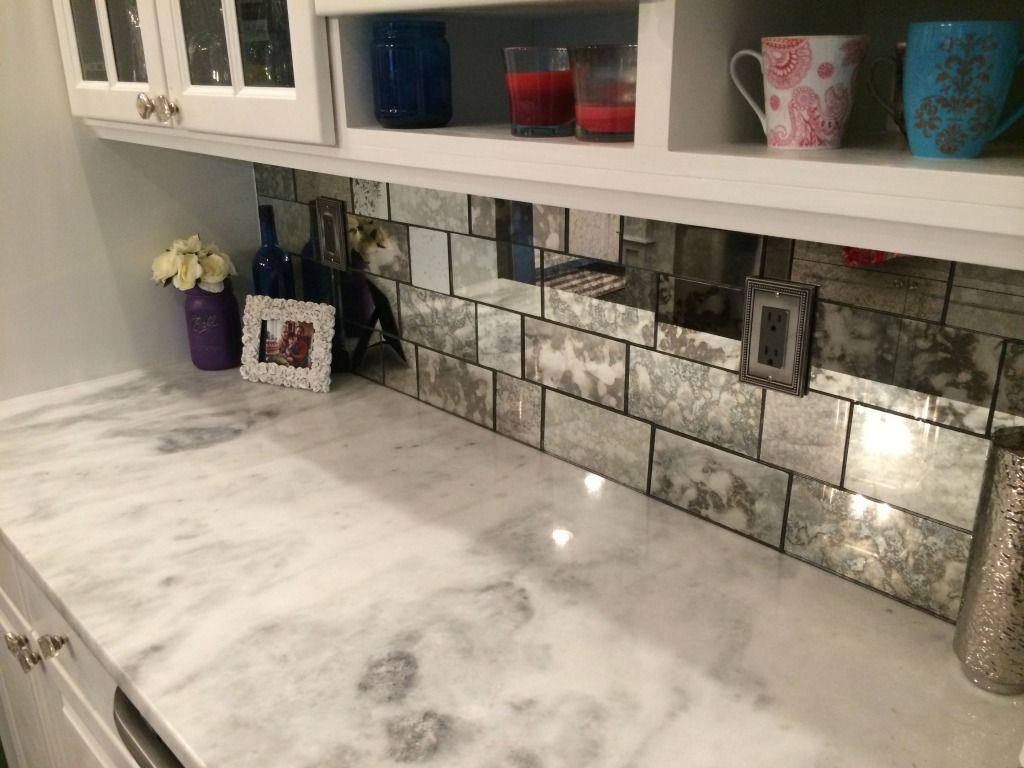 antique mirror tiles - the glass shoppe | kitchen | pinterest