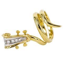 1994 Arman Diamond Gold Ring