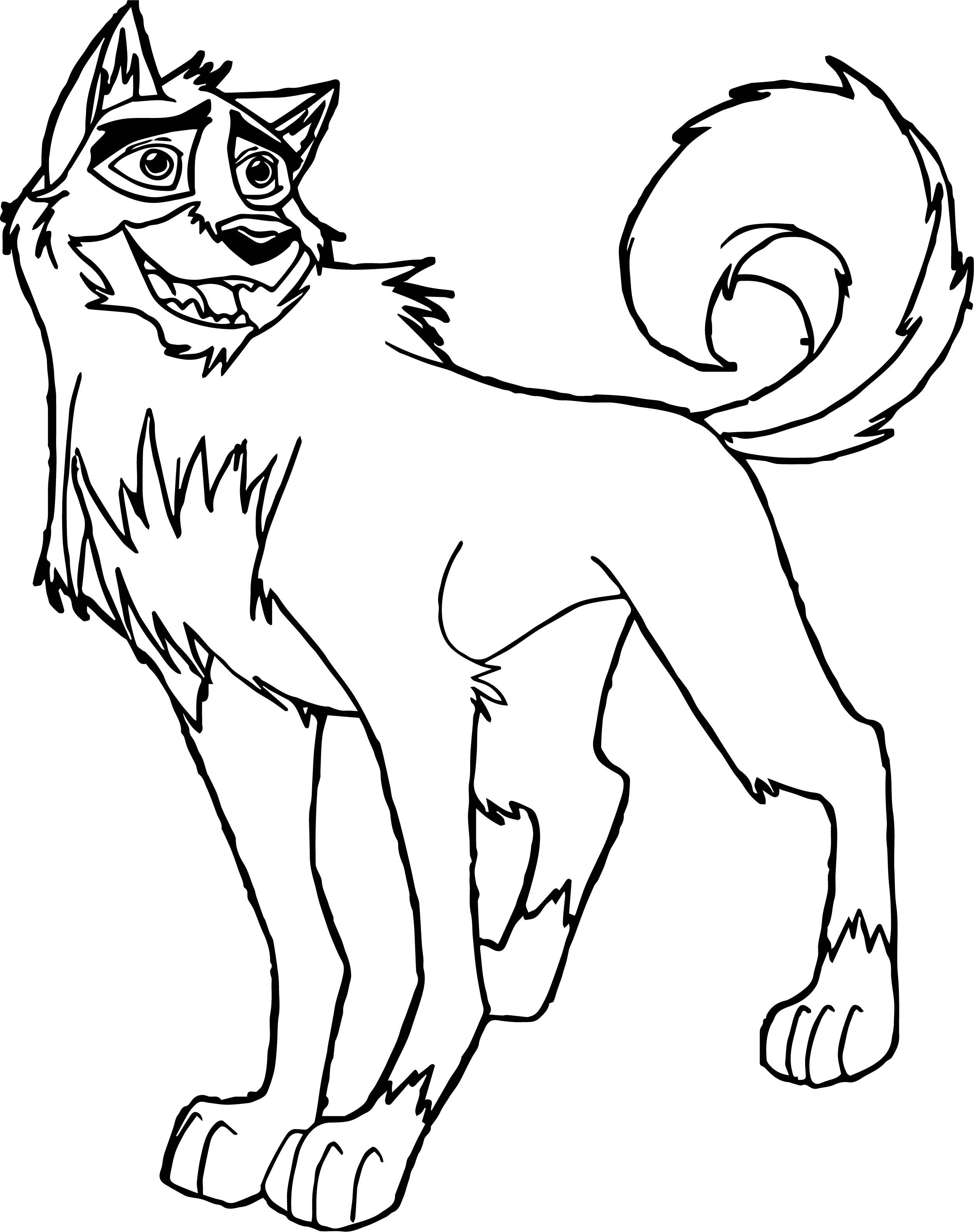 Cool Big The Real Balto Coloring Page Coloring Pages Drawing Skills