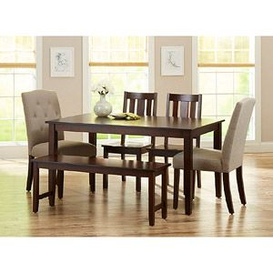 Better Homes And Gardens 6 Piece Dining Set, Mocha/Beige This Could Work