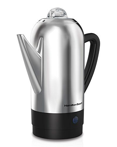 Hamilton Beach 40622r 12 Cup Stainless Steel Percolator Silver