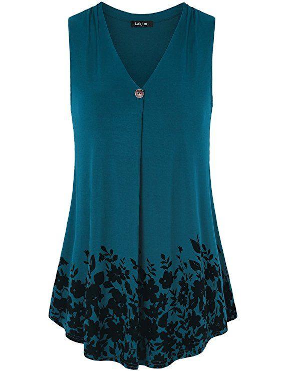 3cecdcb1f68 Laksmi Womens Shirt for Leggings, Womens Sleeveless Tunic Tops for Leggings  for Juniors Basic Floral