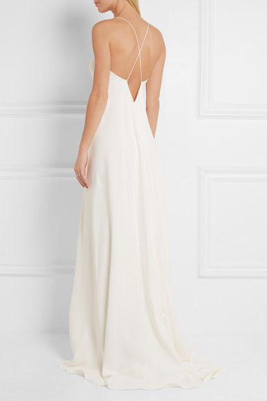 Calvin Klein Collection Alessia Silk Crepe De Chine Gown Net A Porter Com