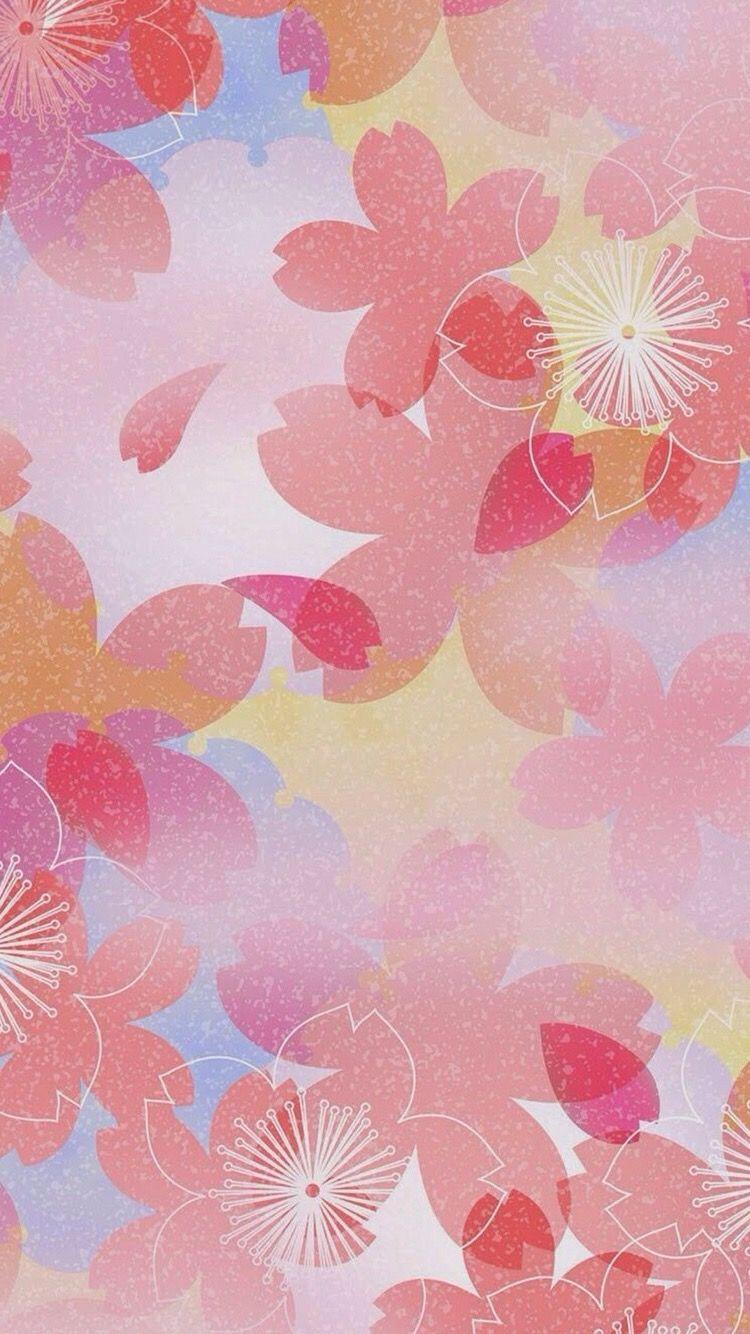 和柄 から保存した クミコ フジタ さんの花 壁紙 2020 桜イラスト