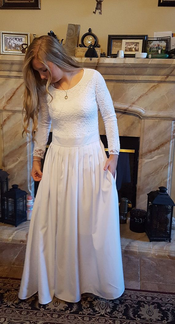 Victoria  White Wedding / Temple Dress by Wiloni on Etsy