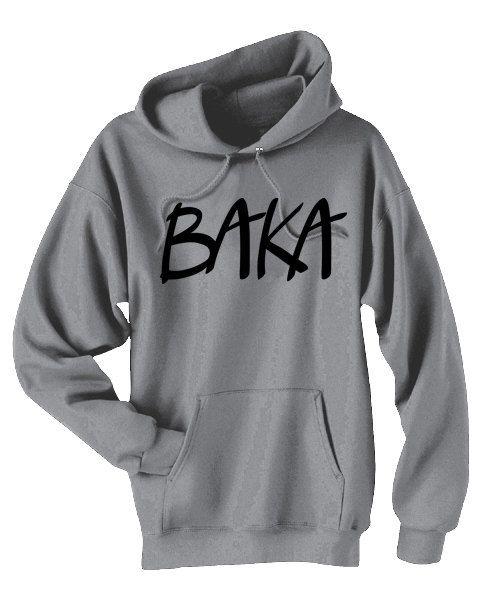 baka anime hoodie idiot funny sweatshirt japanese phrase anime