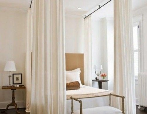 Sitzbank Schlafzimmer ~ Extra hoch himmelbett gardinen sitzbank klasisch stil baldachin